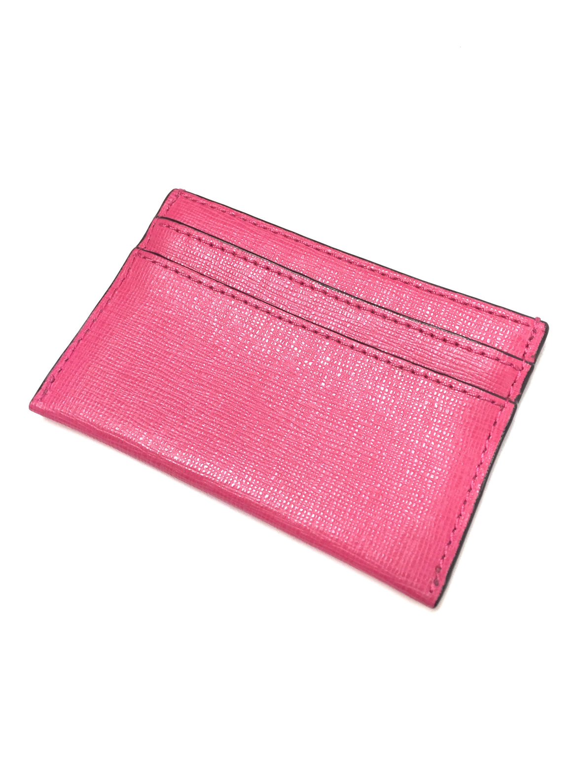COACH New Pink Saffiano Leather Credit Card/Business Card Case