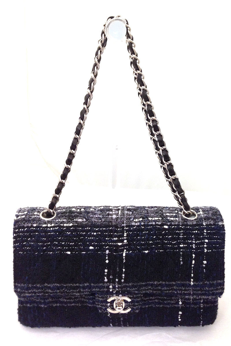 bisbiz.com CHANEL Black, Blue, & Grey Classic Handbag - Bis Luxury Resale