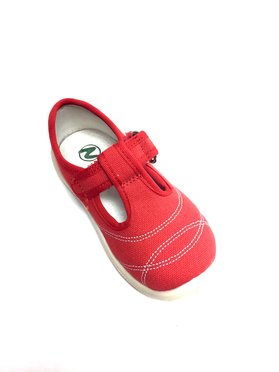NATURINO  Red Canvas Girls' T-Strap Shoes Size: 23/7
