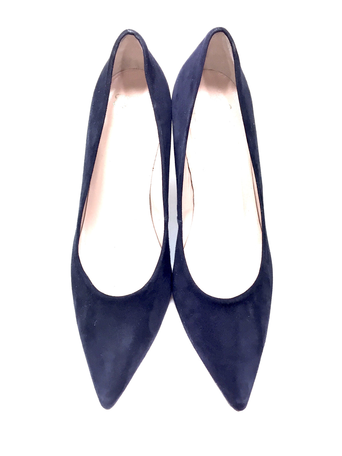 ANDRE ASSOUS Navy Suede Heel Pumps Shoes Size 7