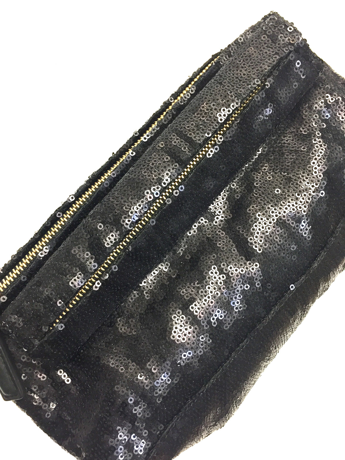 GIVENCHY Black Sequin-Embroidered PANDORA Evening Clutch Bag