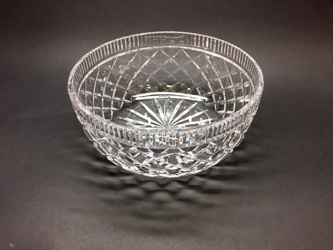 WATERFORD Clear Diamond-Patterned Cut Lead Crystal 'KILLEEN' Bowl