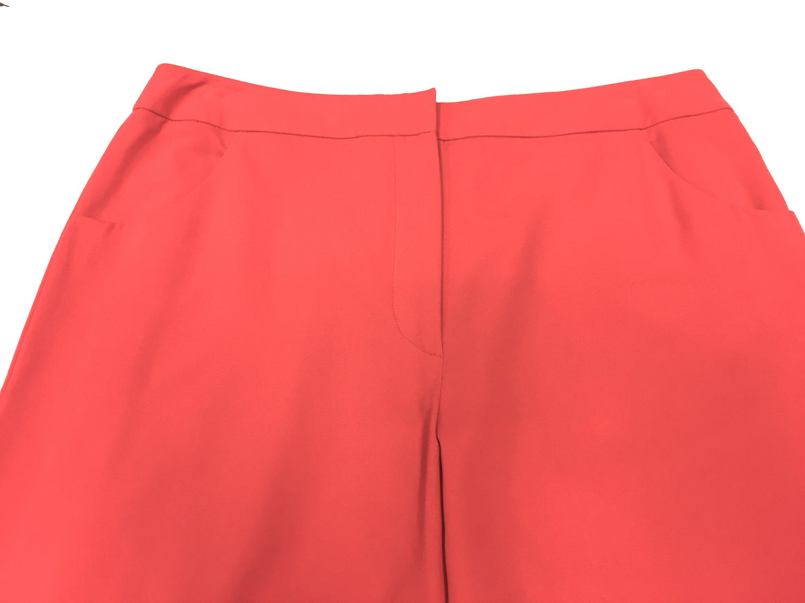 New GIORGIO ARMANI Black Label - Coral-Red Cotton Straight-Leg Pants - Sz IT46