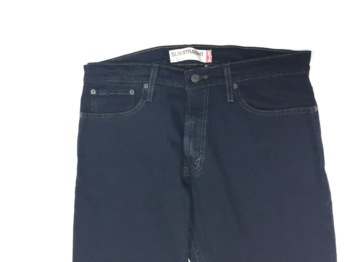 LEVI'S 514 Dark-Blue Wash Straight-Leg Slim-Fit Men's Classic Jeans Sz34x30