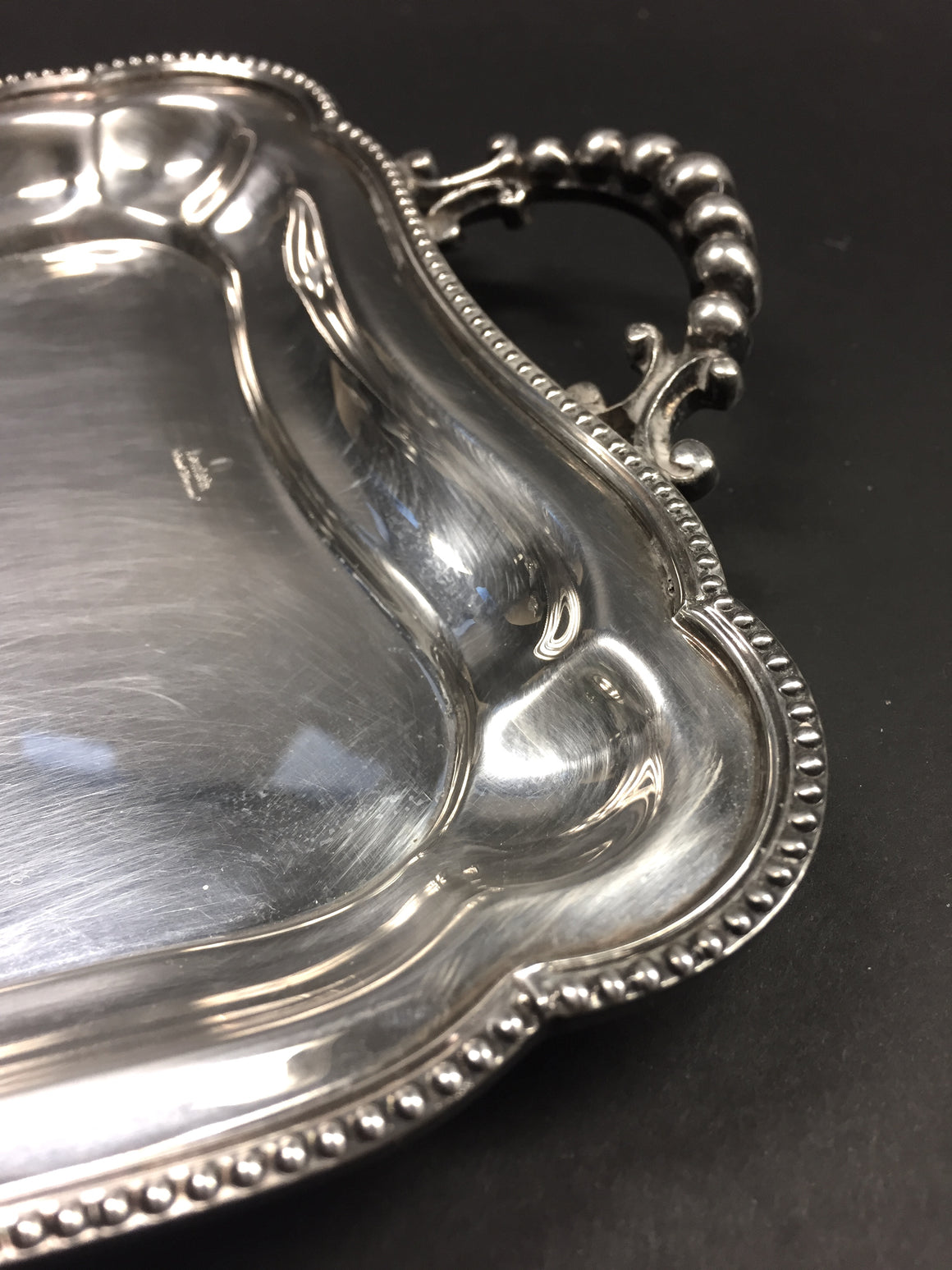 Vintage LAMBIDIS SILVERWARE Heavy Silverplate Small Handled Tray