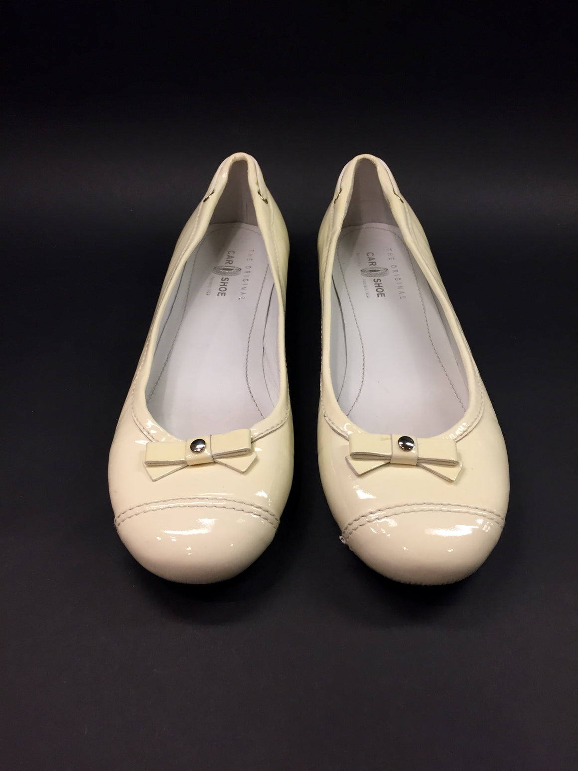 TOD's THE ORIGINAL CAR SHOE TOD'S  Ivory Patent Leather Driving Ballet Flats Shoes  Size: IT 40 / US 10