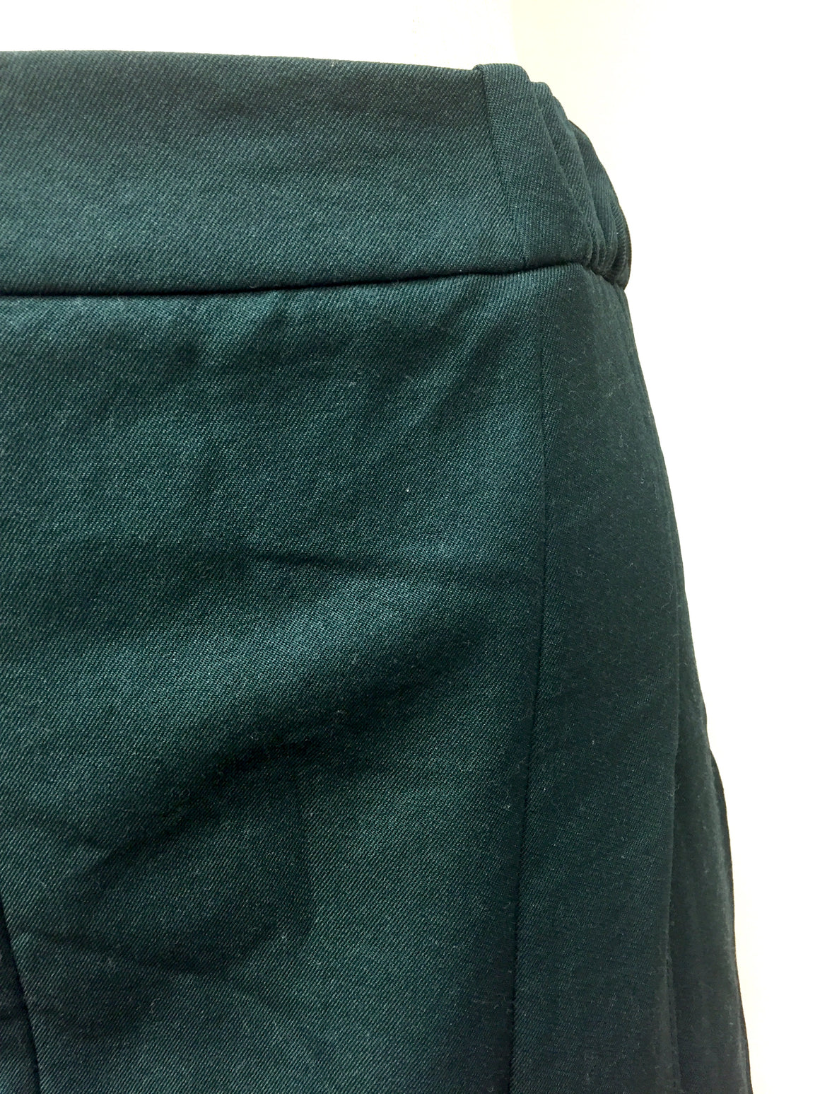 MARNI Forest-Green Crushed Poly-Blend Pleated A-Line Skirt Sz42/8