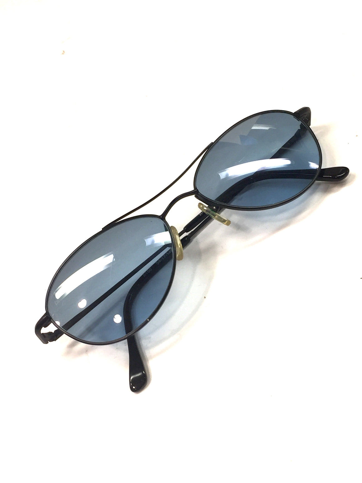 Vintage ROBI A100 Black Metal Frame Blue tint Lenses Sunglasses