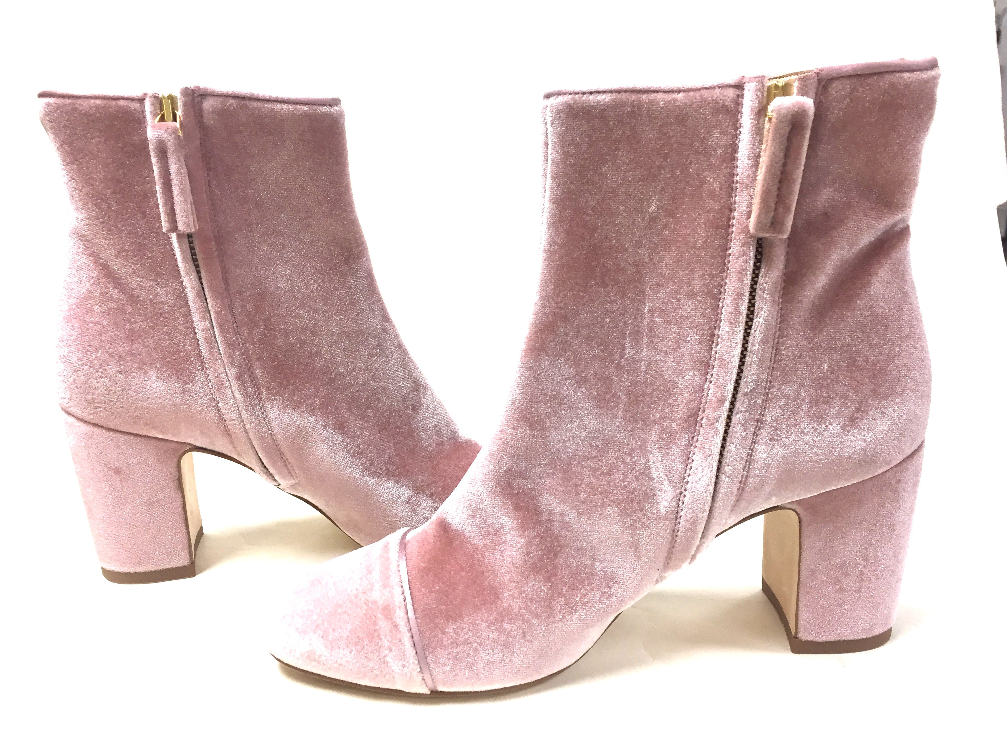 e21415732a1 POLLY PLUME Rose Quartz-Pink Block Heel Ankle Boots Booties Size: EU 37 /  US 7