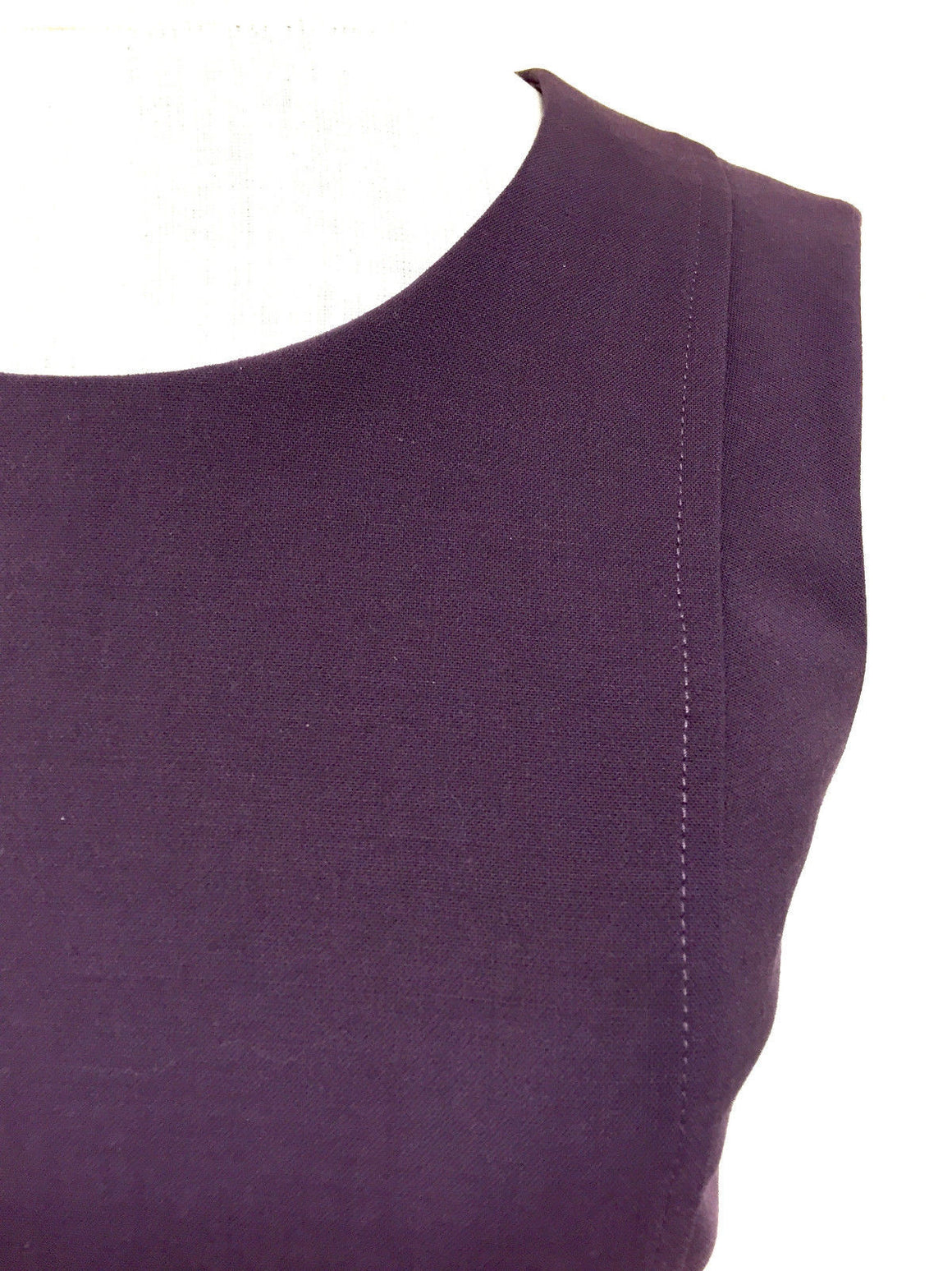 bisbiz.com VERSACE  Plum-Purple Wool-Blend Sleeveless Fitted Dress Size: IT 38/US4 - Bis Luxury Resale