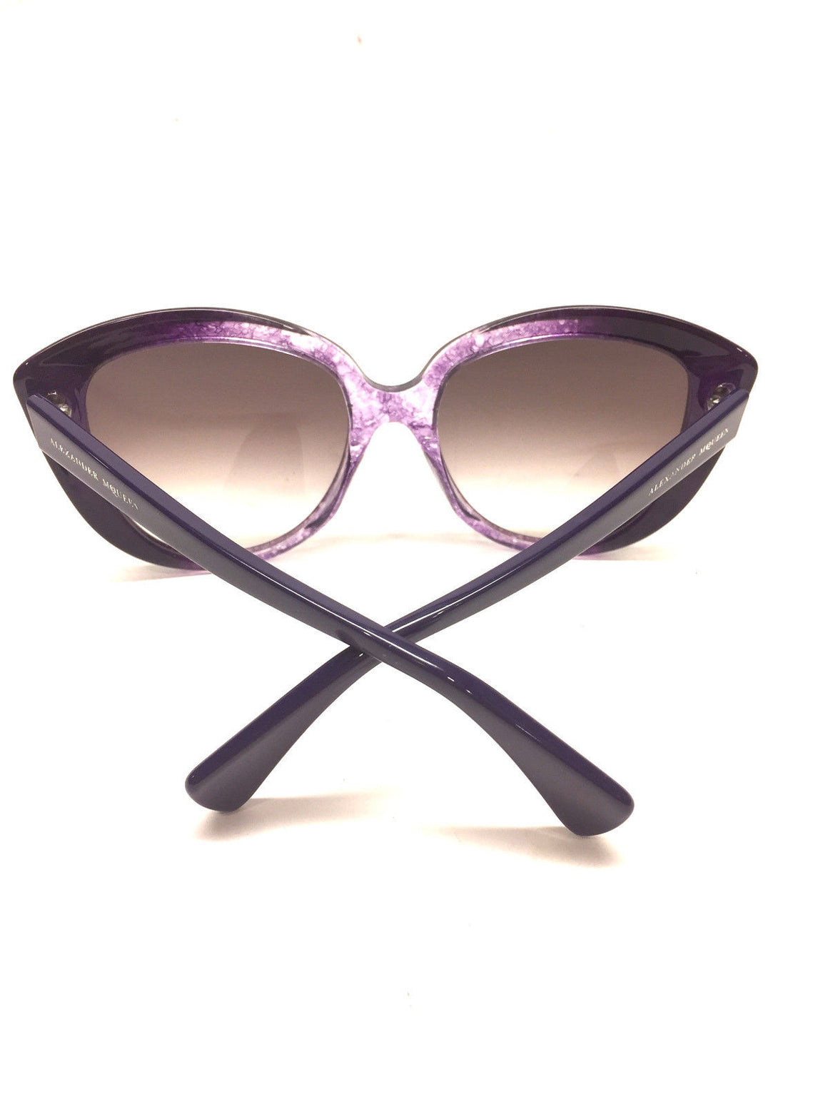 bisbiz.com ALEXANDER McQUEEN  Variegated Purple Frame Cat-eye Sunglasses  Style #AMQ 4234/S - Bis Luxury Resale