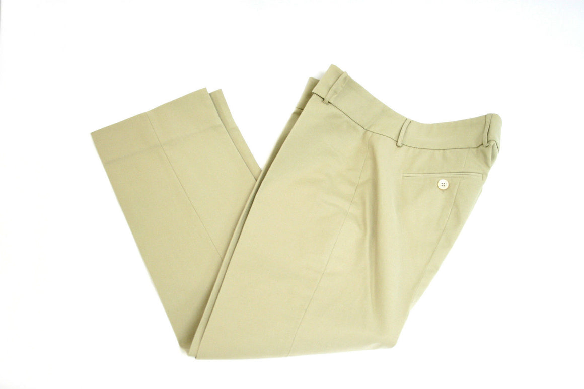 bisbiz.com PIAZZA SEMPIONE   Beige Cotton Blend Slim Leg Cropped Pants Size: IT42 / US6 - Bis Luxury Resale