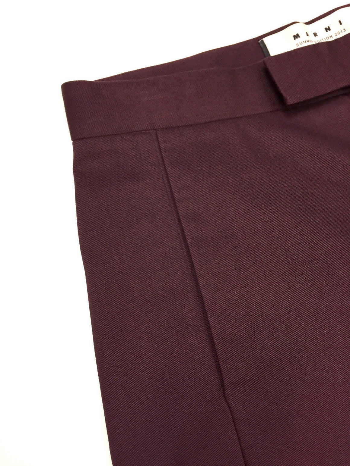 bisbiz.com MARNI Cordovan Cotton Twill Straight-Leg Cropped Pants Size: 4 - Bis Luxury Resale
