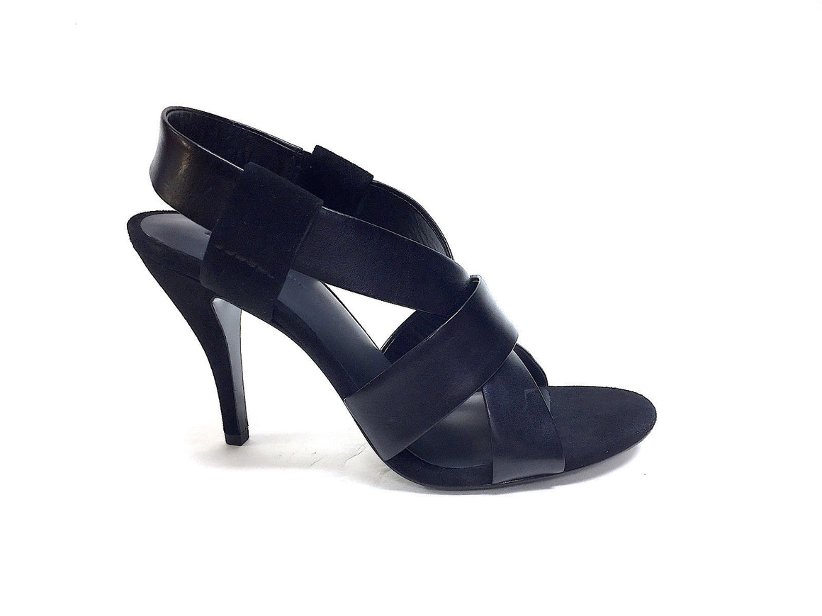 "bisbiz.com ALEXANDER WANG  Black Leather & Suede ""Lilian"" Cage Heel Sandals Size: 38.5 / 8.5 - Bis Luxury Resale"