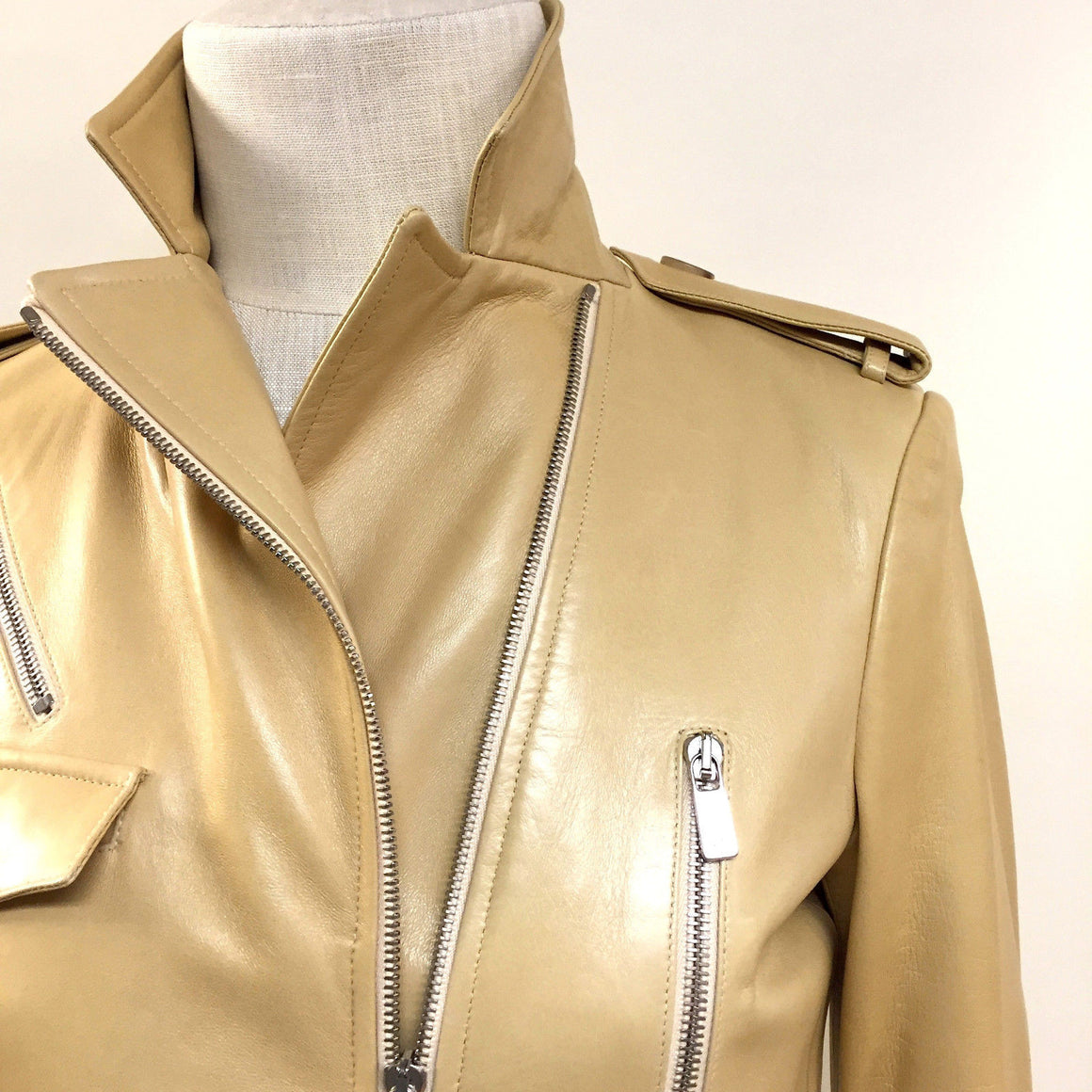 bisbiz.com MICHAEL KORS  Amber Leather Zip Accents Belted Trench Coat - Bis Luxury Resale