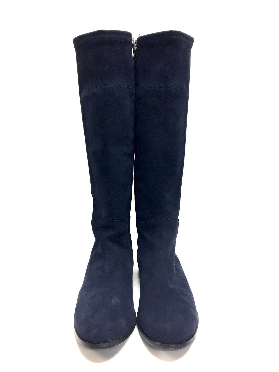 bisbiz.com AQUATALIA by MARVIN K  Navy Suede Tall Flat Weatherproof Boots Size: 8 - Bis Luxury Resale