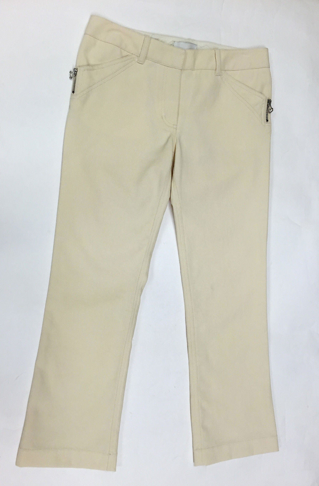bisbiz.com 3.1 PHILIP LIM  Ivory Cotton-Blend Cropped Boot-Leg Jeans Pants Size: 6 - Bis Luxury Resale