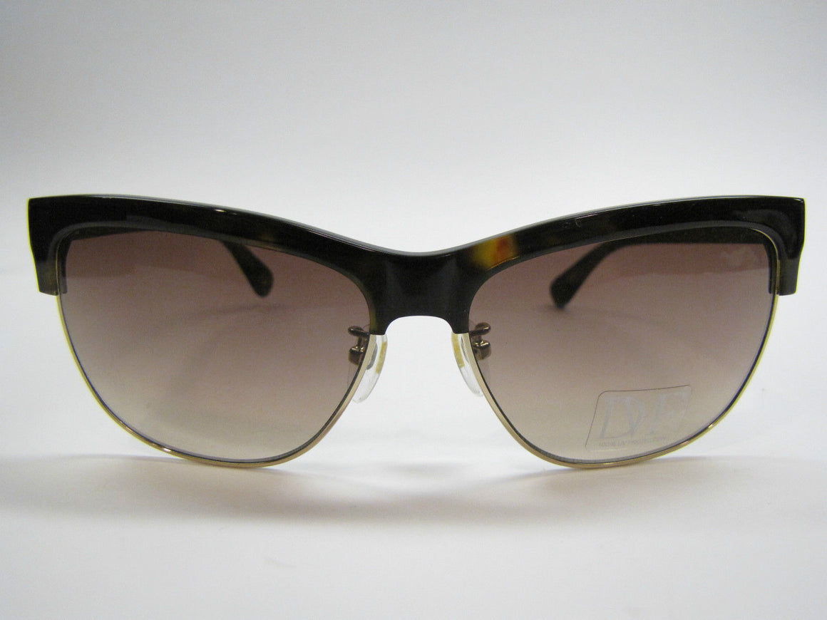 bisbiz.com DIANE von FURSTENBERG  Mock-Tortoise & Gold Metal ATAUI (DVF8165) Sunglasses with Hard Case - Bis Luxury Resale