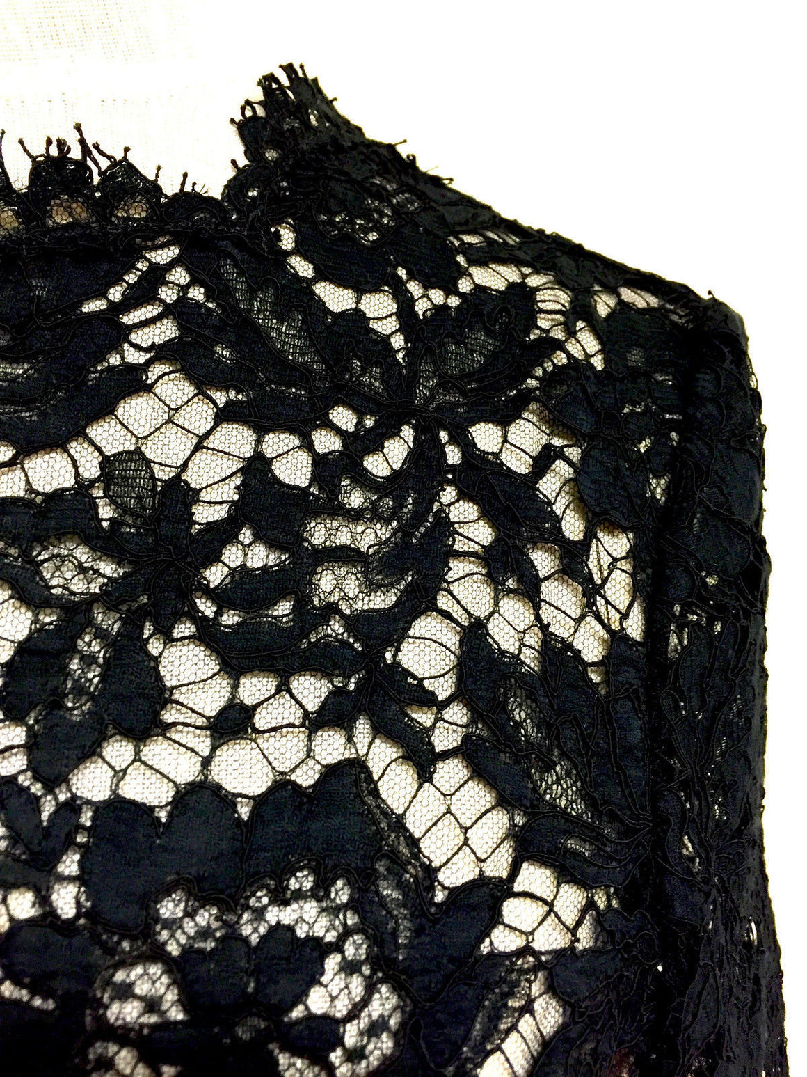 bisbiz.com VALENTINO Black Lace Nude Lining Bow Detail Cocktail Evening LBD Dress SIZE: 4 - Bis Luxury Resale