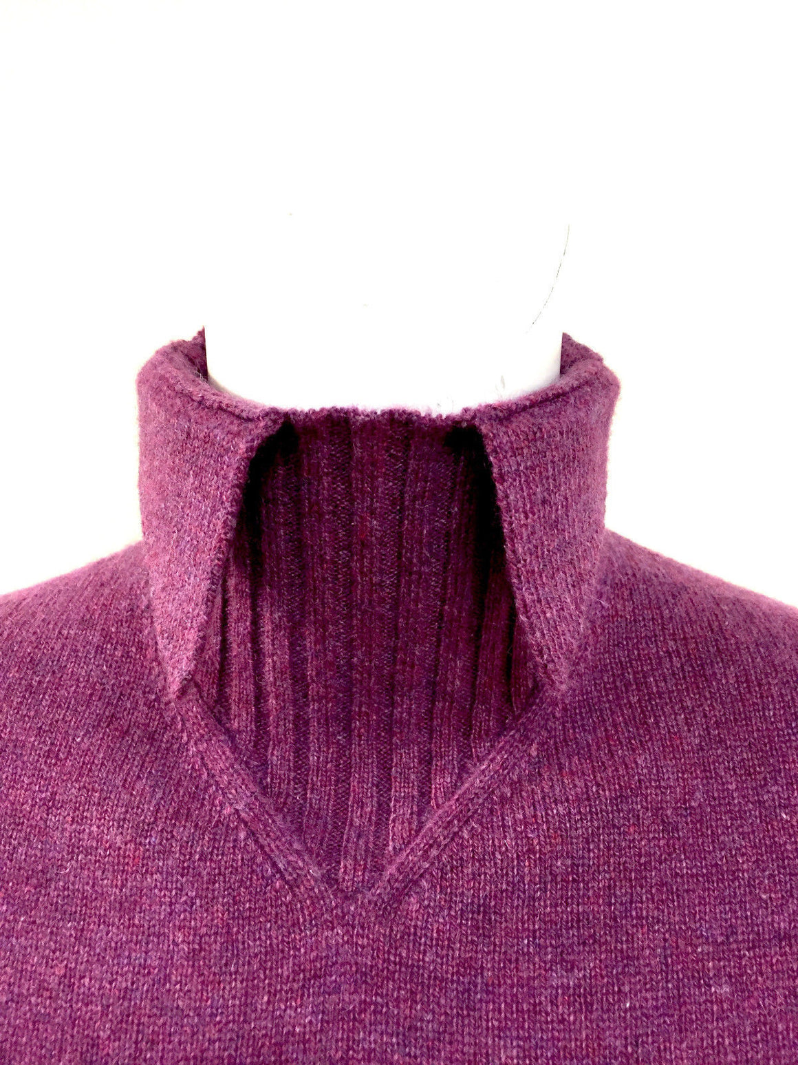 bisbiz.com CHANEL New with Tags Orchid-Fuchsia Cashmere Turtleneck Sweater Top with Pointed Collar & Cuffs Size: S/M - Bis Luxury Resale