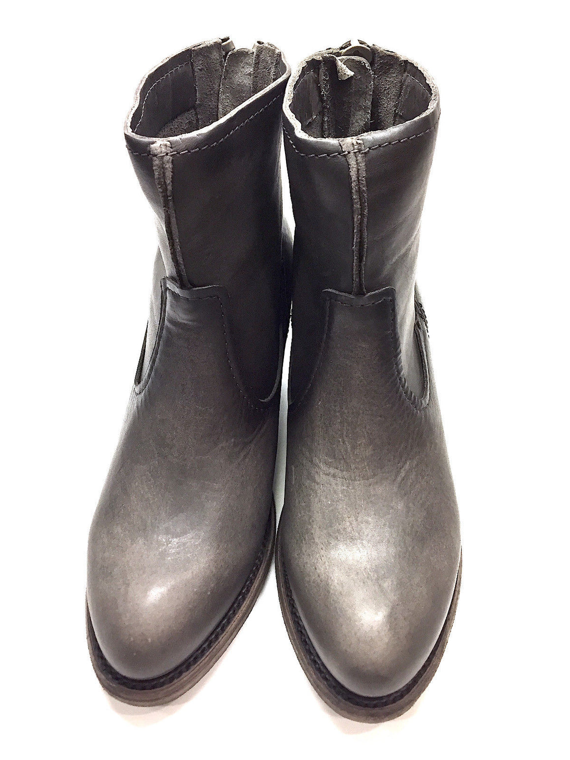 "bisbiz.com FRYE NEW Smoke Leather ""LESLIE"" Artisan Western-Style Ankle Boots Booties - Bis Luxury Resale"