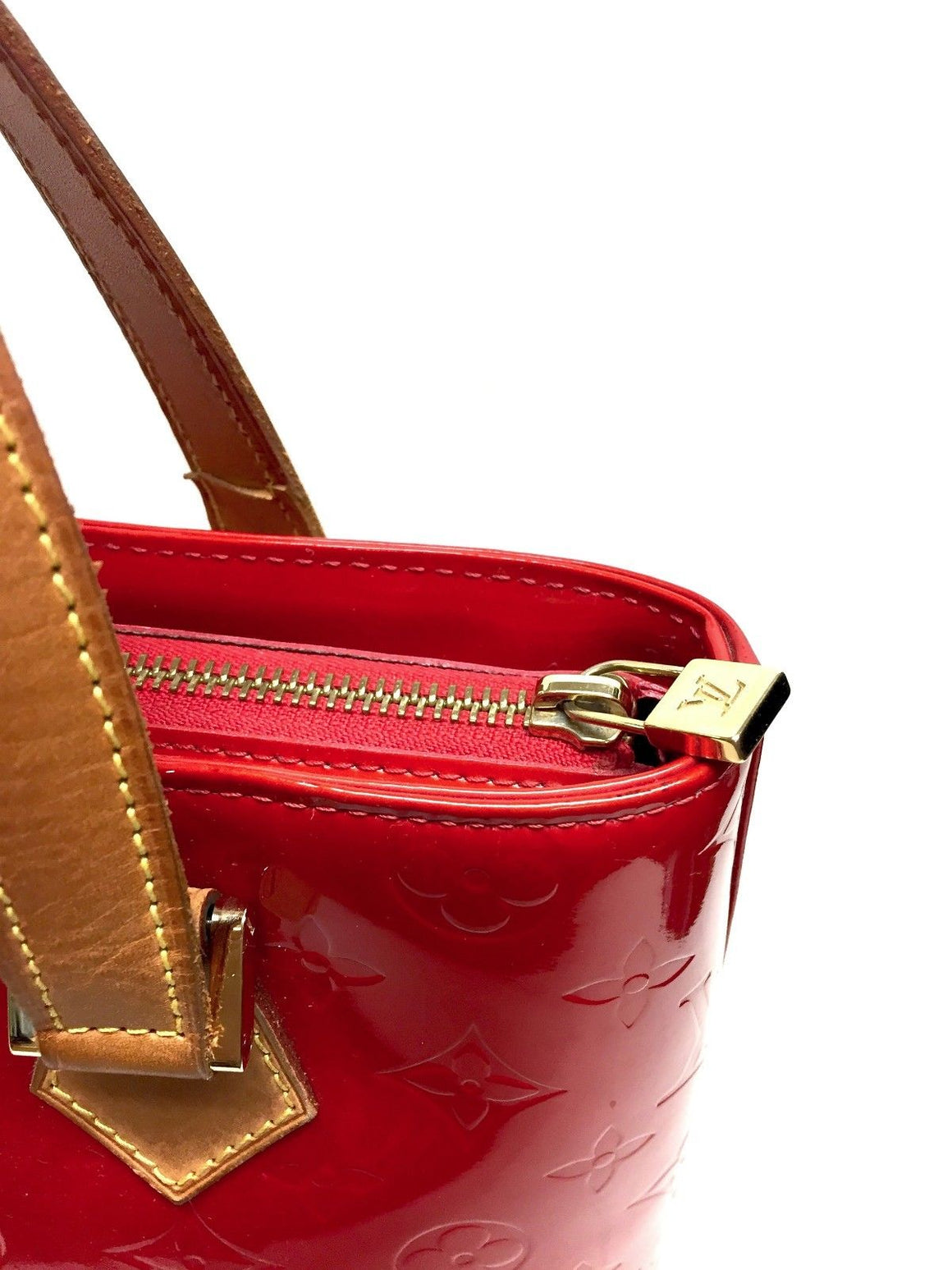 "bisbiz.com Authentic LOUIS VUITTON Red Monogram Vernis ""HOUSTON"" Handbag - Bis Luxury Resale"