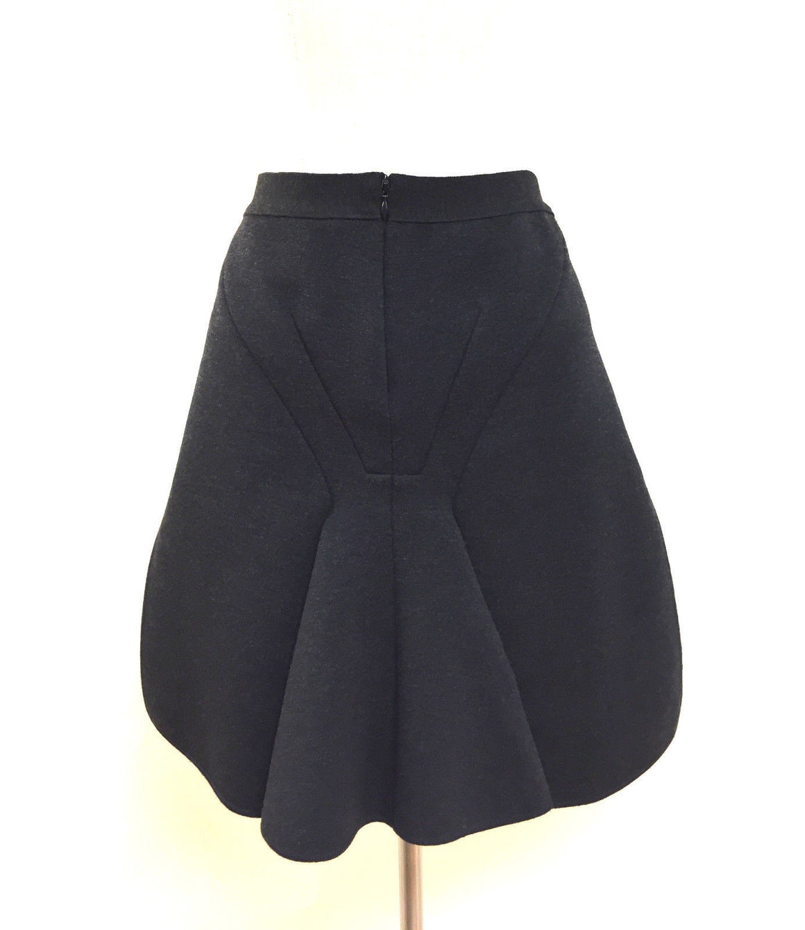 bisbiz.com GIVENCHY   Charcoal-Gray Wool-Blend Mermaid-Back Above the Knee Knit Skirt  Size: M - Bis Luxury Resale