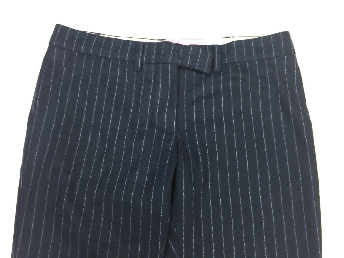 bisbiz.com PAUL SMITH PINK Navy-Blue/White Pinstriped Wool-Blend Slim-Leg Pants Size: IT 38/ US4 - Bis Luxury Resale