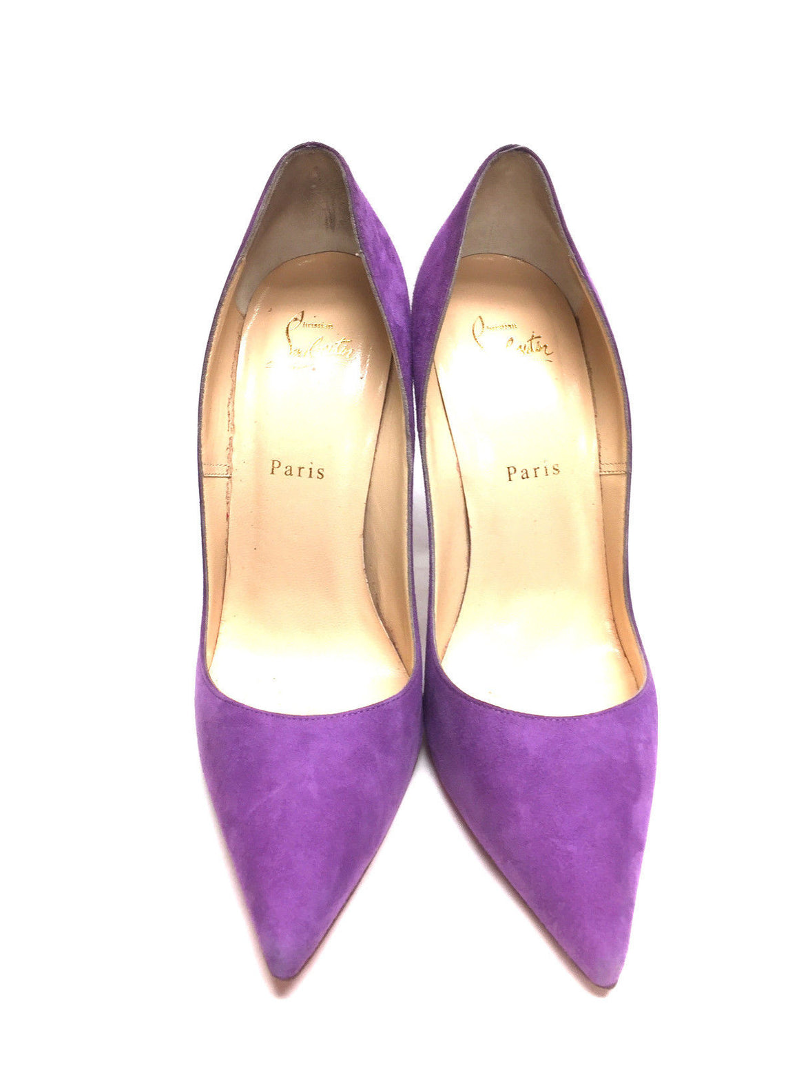 "bisbiz.com CHRISTIAN LOUBOUTIN  Orchid-Purple Suede Pointed-Toe Stiletto Heels ""SO KATE"" Pumps  Size: 39.5 / 9 - Bis Luxury Resale"