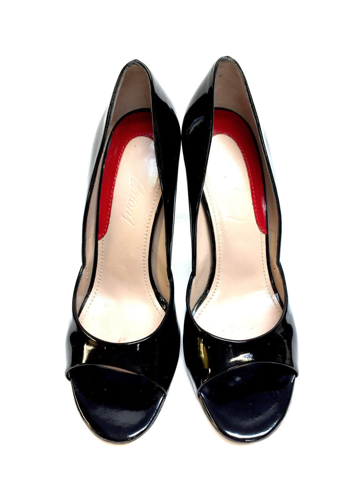 bisbiz.com BRIONI Black Patent Leather Open-Toe Hi-Heel Pumps Shoes  Size: 38.5 / 8.5 - Bis Luxury Resale