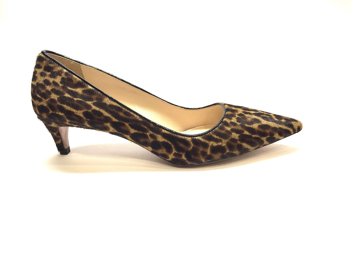 bisbiz.com PRADA Brown/Tan Animal-Print Calf Hair Pointed Toe Kitten Heel  Pumps Shoes  Size: 6.5 - Bis Luxury Resale