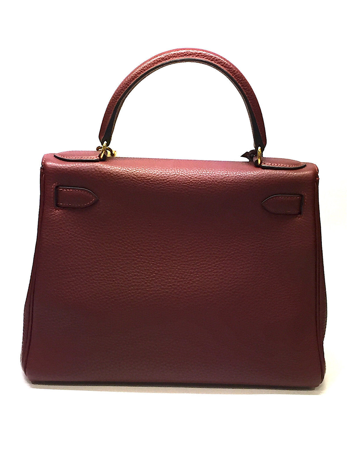 bisbiz.com Hermes Kelly 28cm Rouge Ash Togo Leather Gold H/w Retourne Bag - Bis Luxury Resale