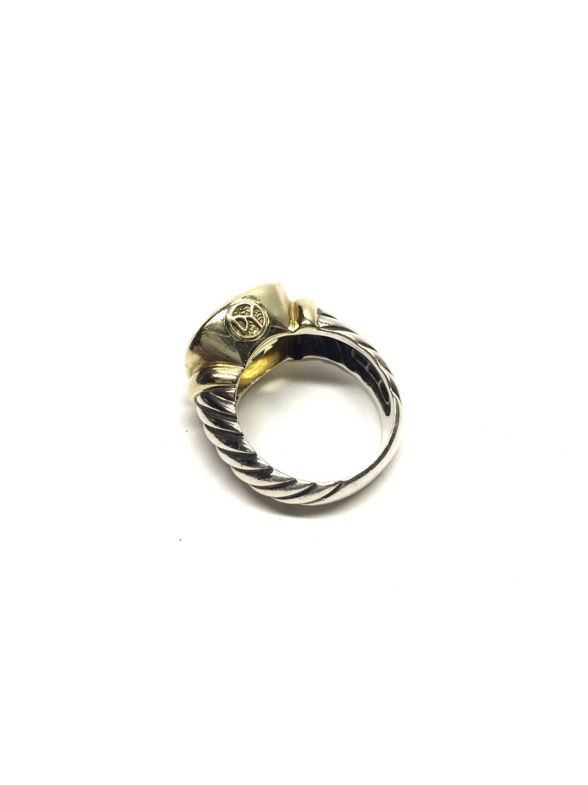 bisbiz.com DAVID YURMAN Sterling Silver 14K Gold Lemon Citrine NOBLESSE Ring Size: 7.5 - Bis Luxury Resale