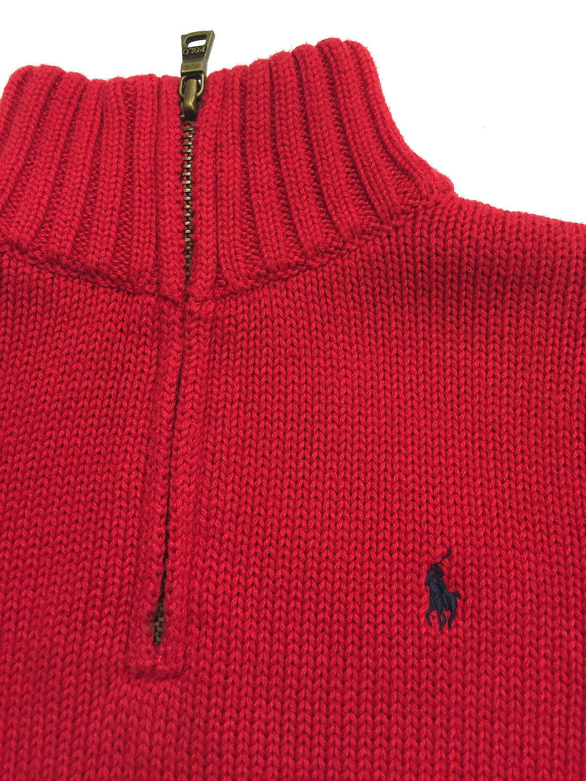 bisbiz.com POL0-RALPH LAUREN Red Cotton Boys Knit Zip-Neck Henley Top Size: 6 Years - Bis Luxury Resale
