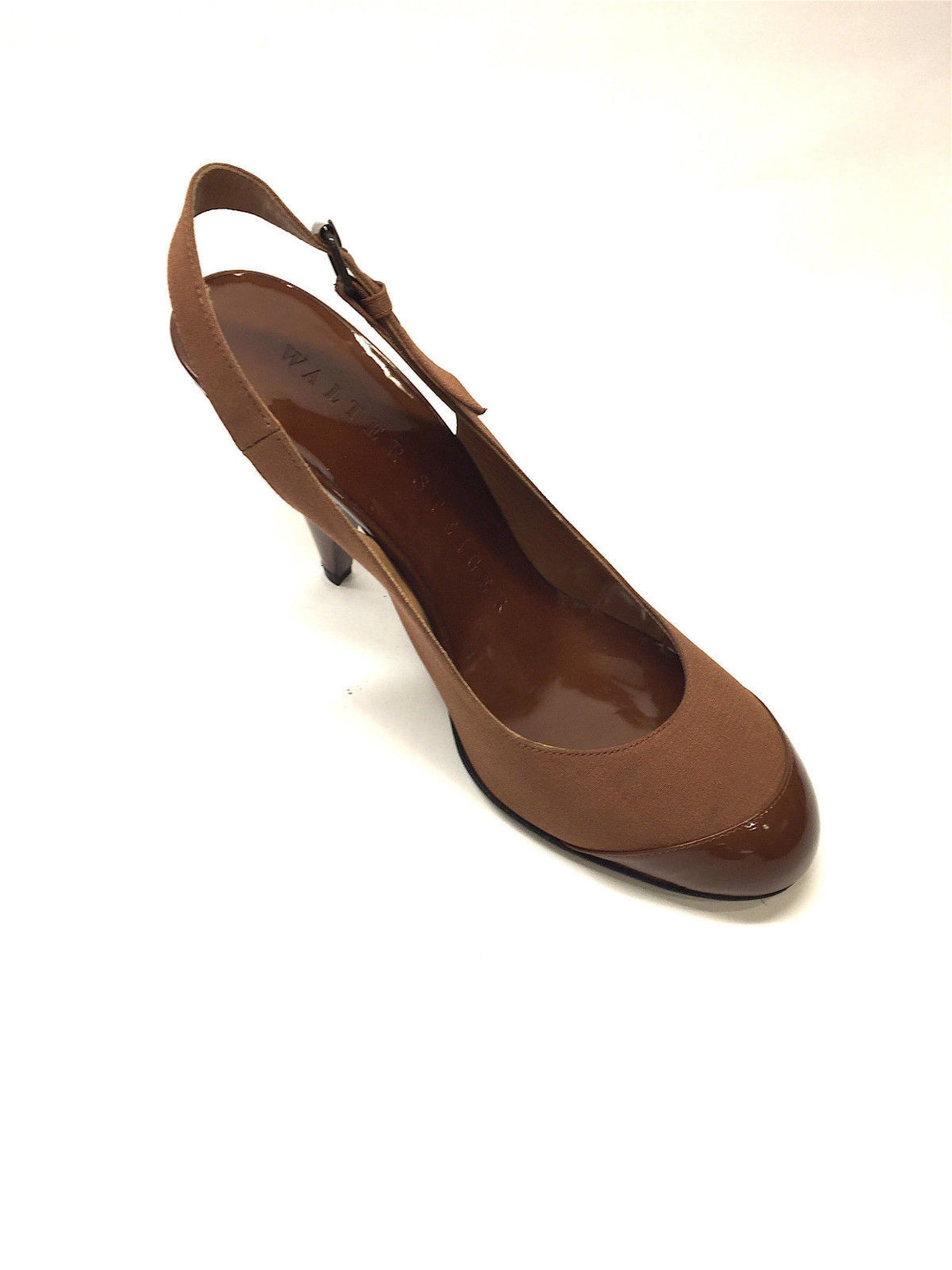 bisbiz.com WALTER STEIGER   Caramel Faille & Patent Leather Slingback Heel Pumps Shoes Size: 39.5 - Bis Luxury Resale