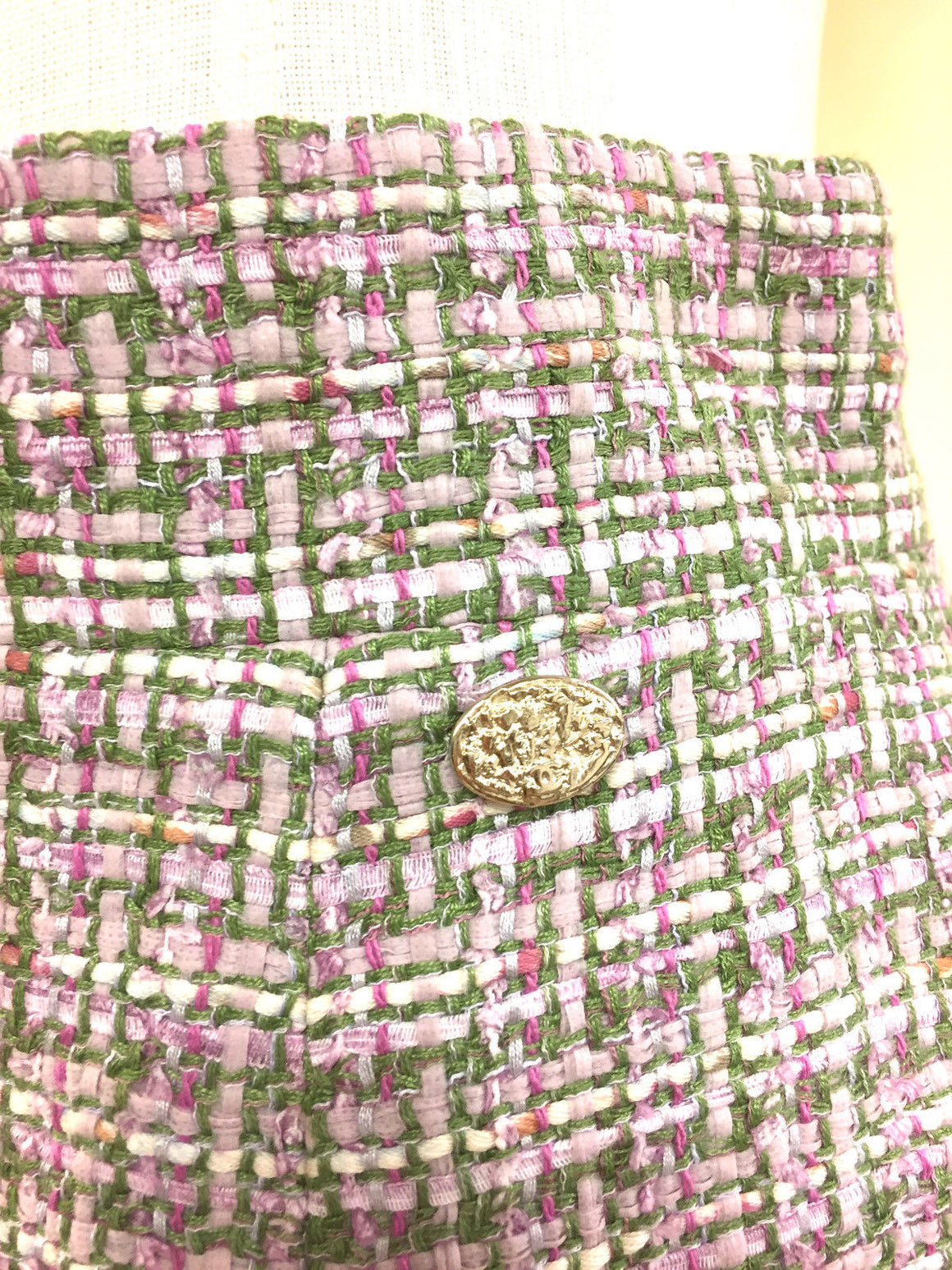 bisbiz.com CHANEL Pink/Multicolor Fantasy Weave Crystal Embellished Skirt Size: FR38/US6 - Bis Luxury Resale