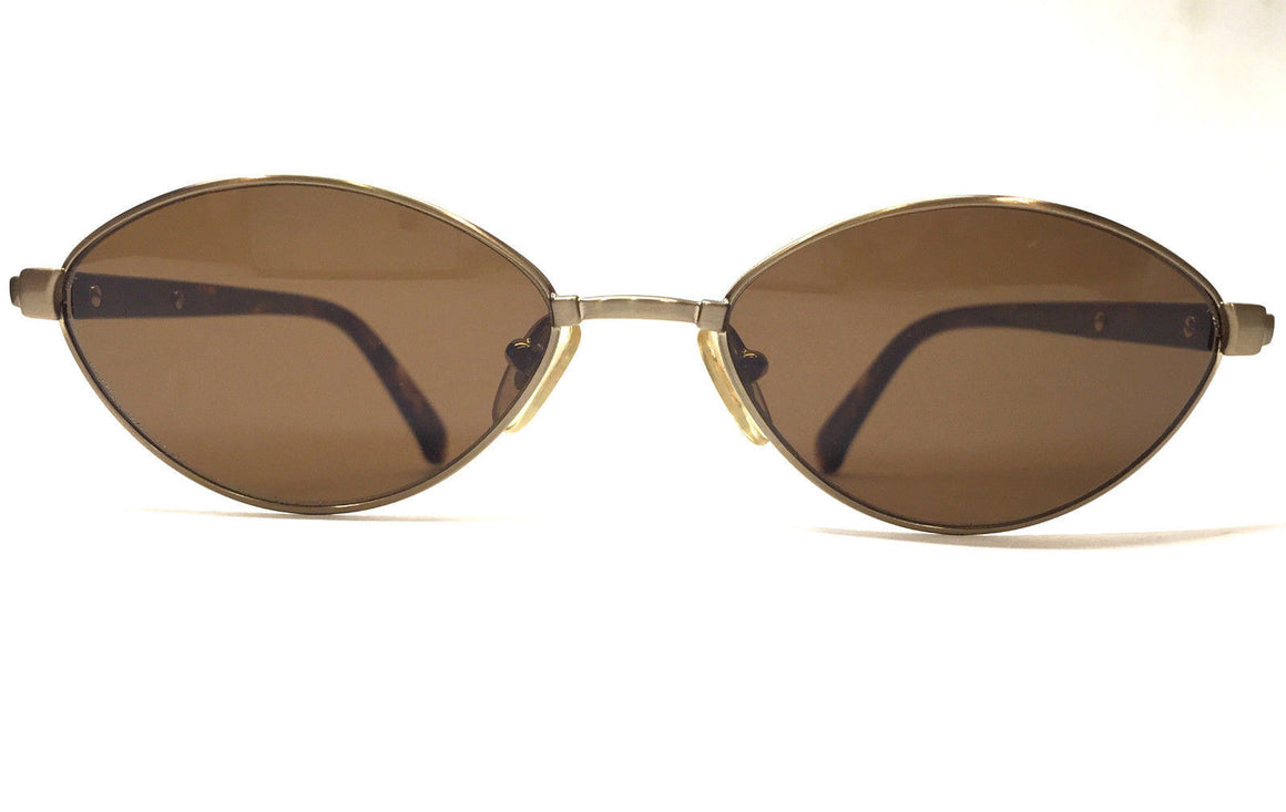 bisbiz.com ESCADA  Style #E1077 E315  Bronze Metal Frame Cat-Eye Designer Sunglasses  w/Brown Tint Lenses - Bis Luxury Resale