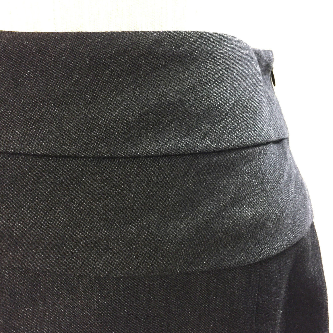 bisbiz.com MARNI Charcoal Wool Tiered Waist A-Line Skirt Skirt  Size: IT 38 / US 4 - Bis Luxury Resale