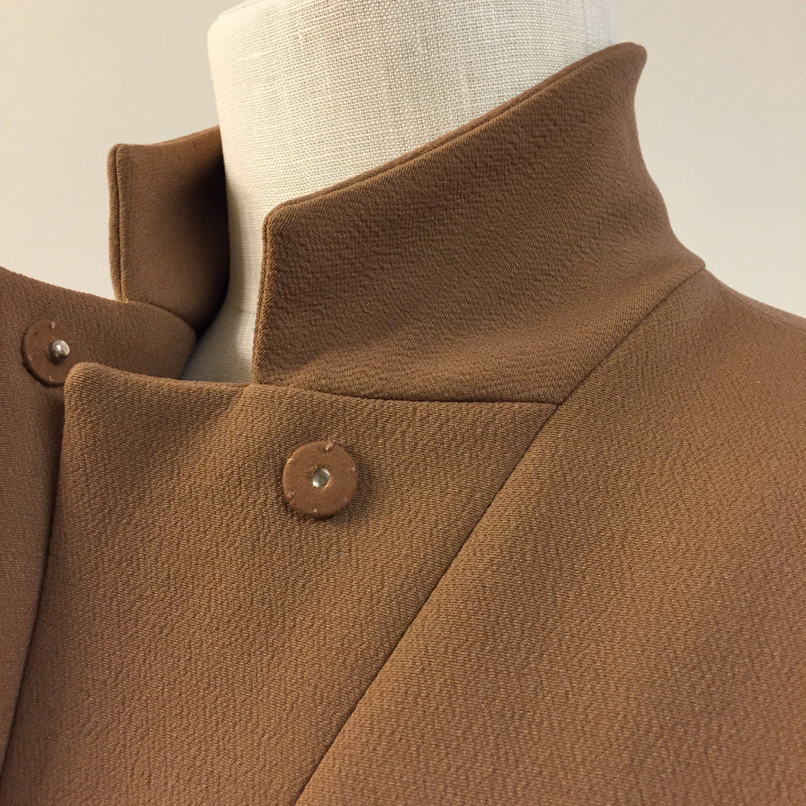 bisbiz.com MARNI  Wheat-Brown Wool-Blend Stand-Collar  Fitted Jacket Blazer  Size: 4 - Bis Luxury Resale