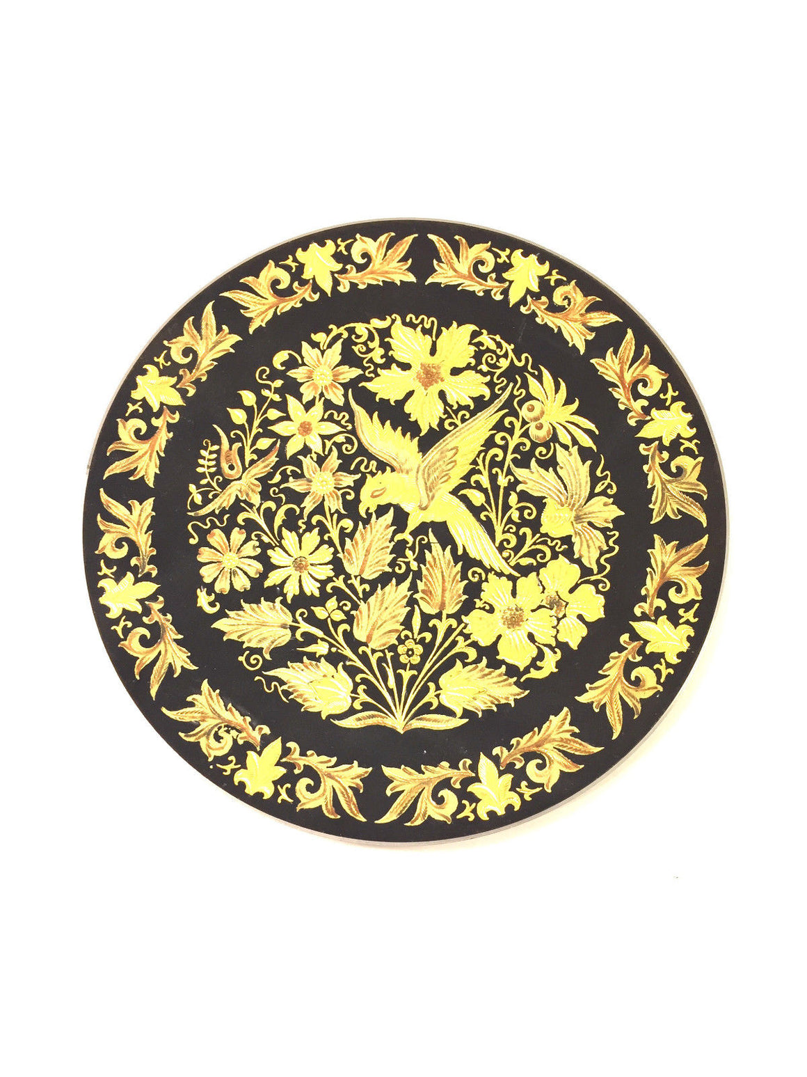 bisbiz.com DAMASCENE / TOLEDO SPAIN  Vintage 1970's  24 Karat Inlaid Gold Plate - Bis Luxury Resale