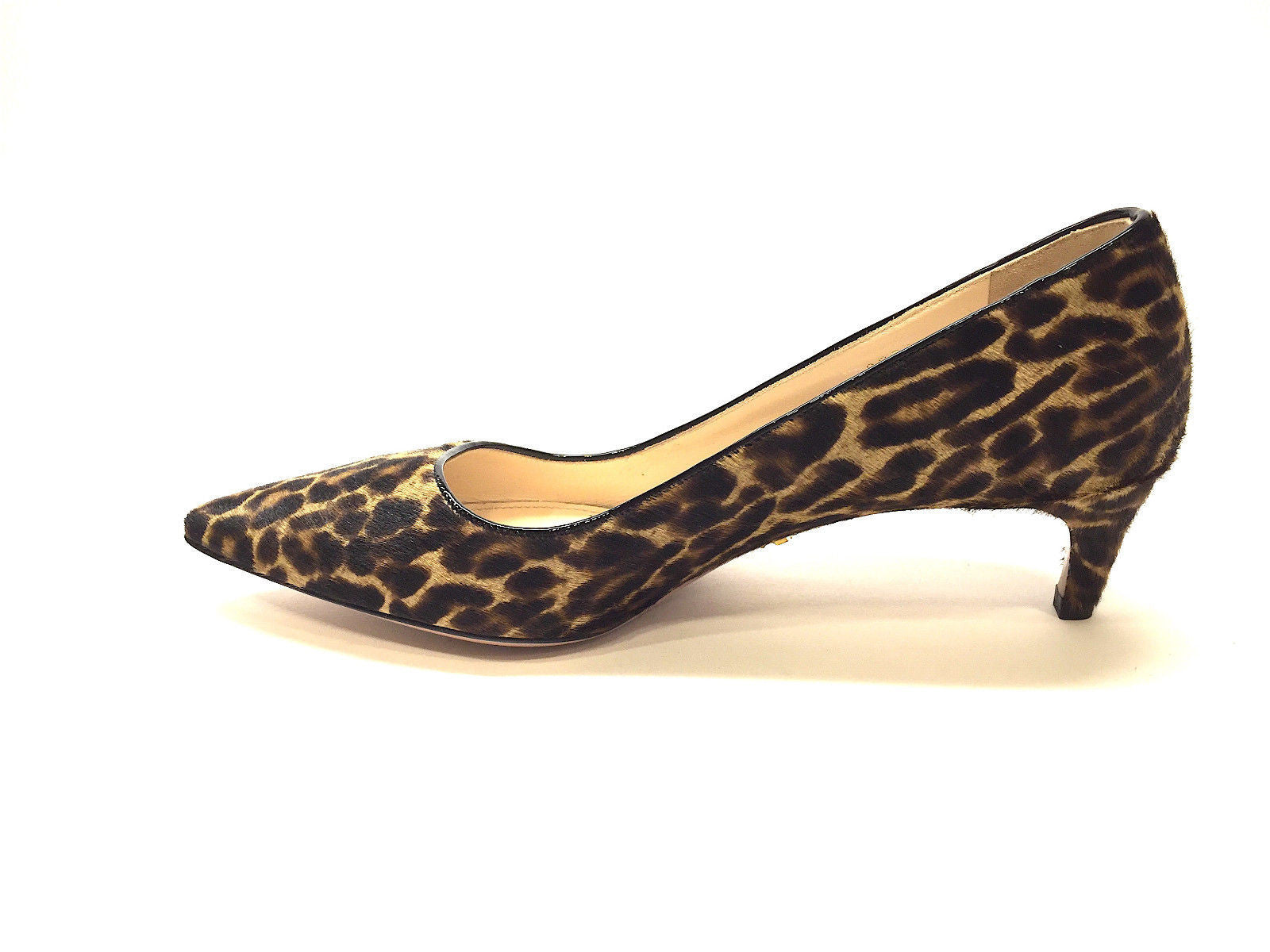 ... bisbiz.com PRADA Brown Tan Animal-Print Calf Hair Pointed Toe Kitten  Heel ...