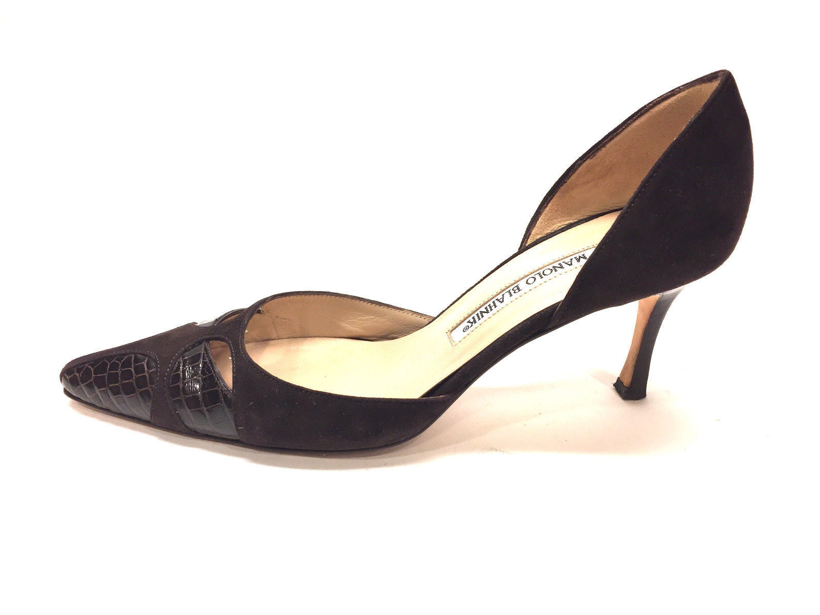 pay with paypal cheap online deals sale online Manolo Blahnik Cap-Toe D'Orsay Pumps yRNDhvc