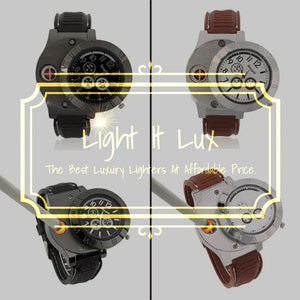 Rechargeable Lighter Watch with LED Indicator Light and Quartz watch