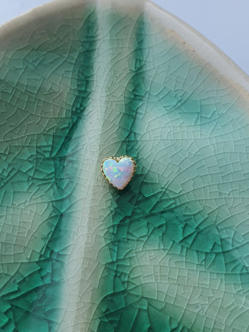 Opal Heart - Yellow Gold