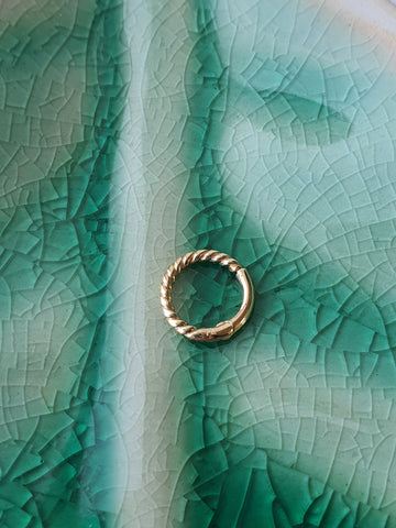 14kt Gold Rope Ring