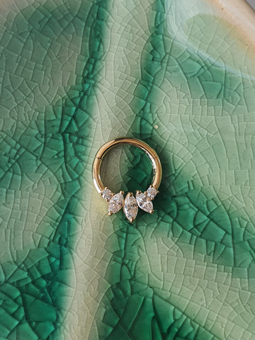 14kt Gold Marquise Gem Ring