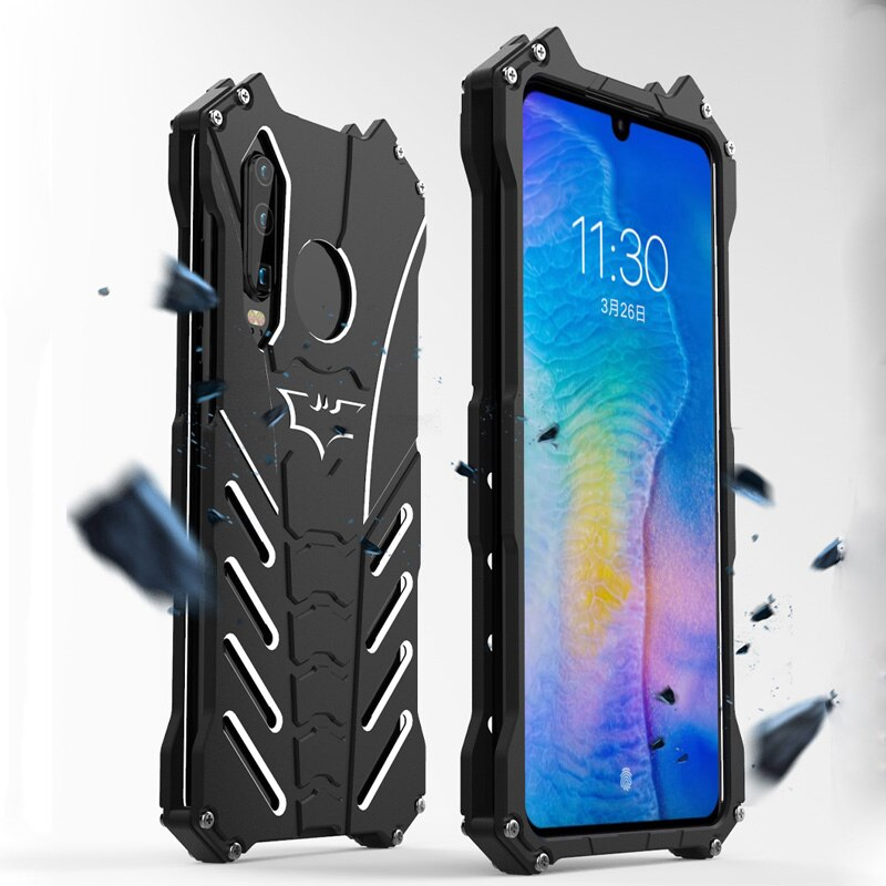 For Huawei P30 Pro Case R-JUST Batman Luxury Aluminium Metal Case For Huawei P30 Pro Huawei P30 lite Phone Cover Coque