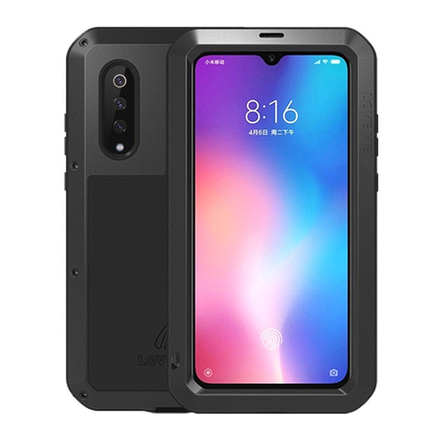 Luxury Full Body Protective Case For Xiaomi Mi 9 8 Mi8 Metal Armor +Gorilla Glass Rugged Shock Shockproof Cover Xiaomi Mi9 Cases
