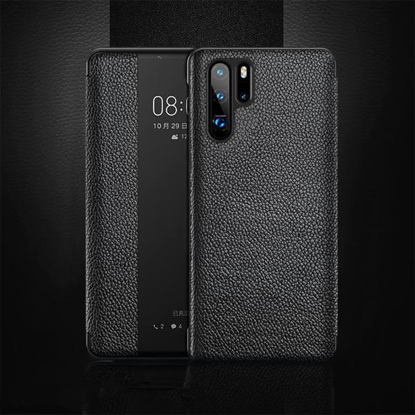 P30 Pro Genuine Leather Smart Phone Case for Huawei P30 P20 Pro Flip Awaken Sleep Cover for Huawei Mate 10 20 Pro Mate 20X