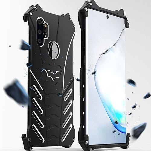 R-JUST Batman Armor Heavy Dust Rugged Phone Case For Samsung Galaxy Note 10 Plus 5G A8 Metal Case For Galaxy S10 5G S9 Cover